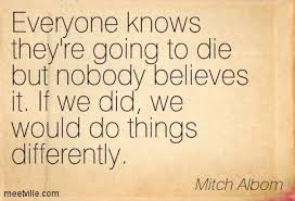 Tuesdays with Morrie quote