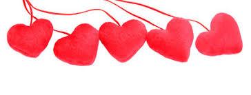 Five hearts